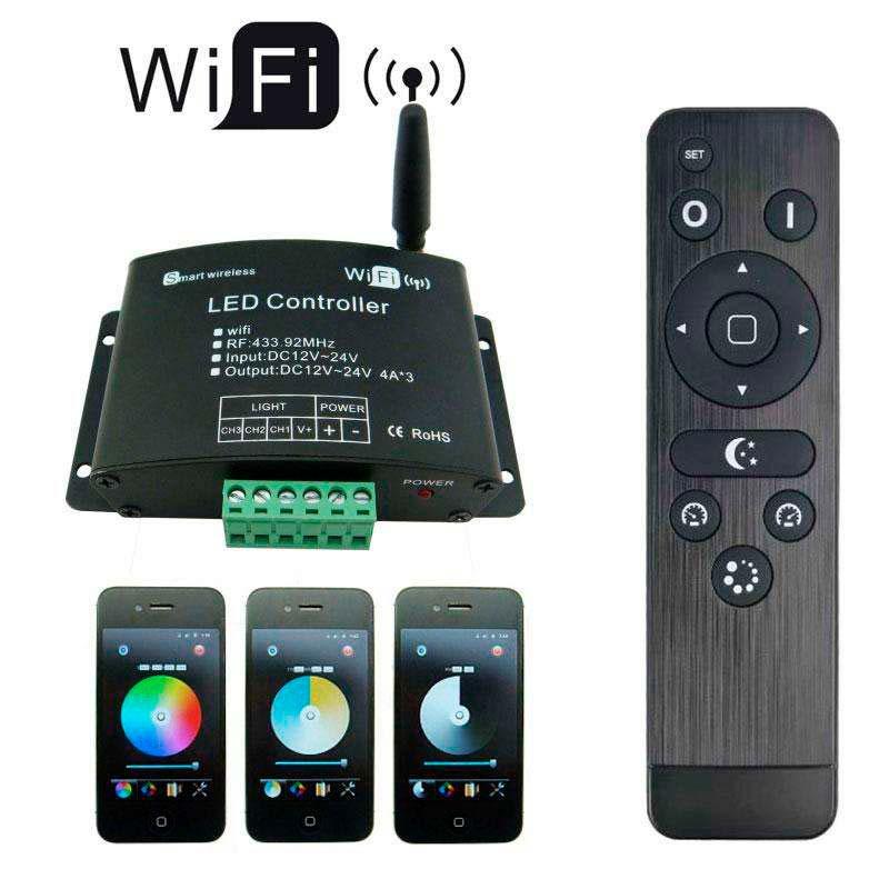 Contrôleur WIFI-LED V03 (mono, dual, RGB) + RF control